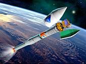 Venus Express launch,artwork