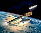MetOp weather satellite launch,artwork