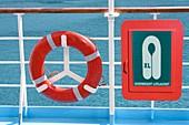 Life-saving equipment on a ship