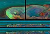 Storm on Saturn,Cassini images