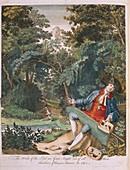 The Aurelian,1766 frontispiece