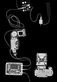 X-ray of a digital camera and iPod