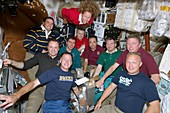 ISS Expedition 28 and STS-135 crews