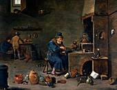 Alchemist's workshop,historical artwork