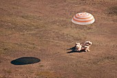 Soyuz spacecraft landing,April 2009