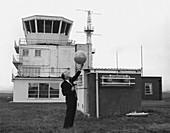 Cloud height balloon launch,1968