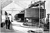 Hydroelectric generators,19th century