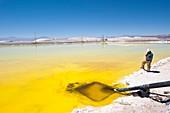 Lithium evaporation ponds