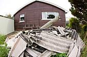 Household asbestos waste