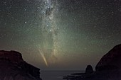 Comet Lovejoy and the Milky Way
