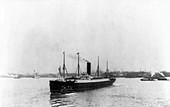 RMS Carpathia in New York harbour