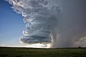 Low-precipitation supercell storm