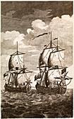 Anson's Spanish galleon capture,1743
