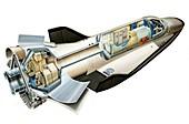 Hermes space shuttle,artwork