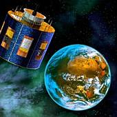 MSG-2 weather satellite,artwork