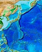 North-West Pacific,ETOPO1 model