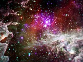 NGC 281 starbirth region,composite