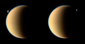 Titan occulting Tethys,Cassini images