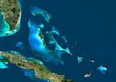 Bahamas,satellite image