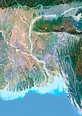Bangladesh,satellite image