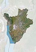 Burundi,satellite image
