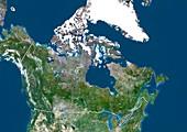 Canada,satellite image