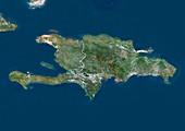 Dominican Republic,satellite image