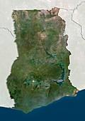 Ghana,satellite image