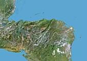 Honduras,satellite image