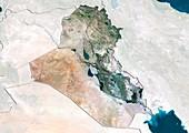 Iraq,satellite image