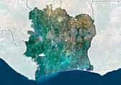 Ivory Coast,satellite image