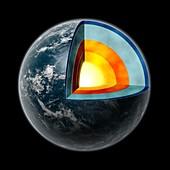 Water world exoplanet,artwork