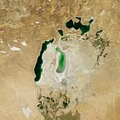 Aral Sea,satellite image,2011