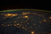 UK and France at night from space