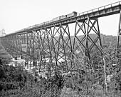 Railroad viaduct near Boone,USA,1901