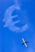 Cost of air travel,conceptual image