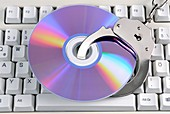 Software piracy,conceptual image