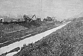 Panama Canal construction,19th century