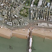 Brighton pier and seafront,aerial view