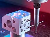 3D measurement probe use