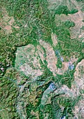 Kosovo,satellite image