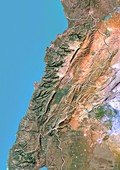 Lebanon,satellite image