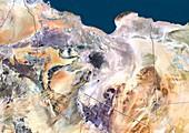 Libya,satellite image