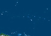 Micronesia,satellite image