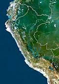 Peru,satellite image
