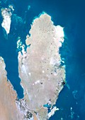 Qatar,satellite image