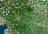 Slovenia,satellite image