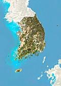 South Korea,satellite image