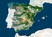 Spain,satellite image