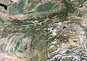 Tajikistan,satellite image